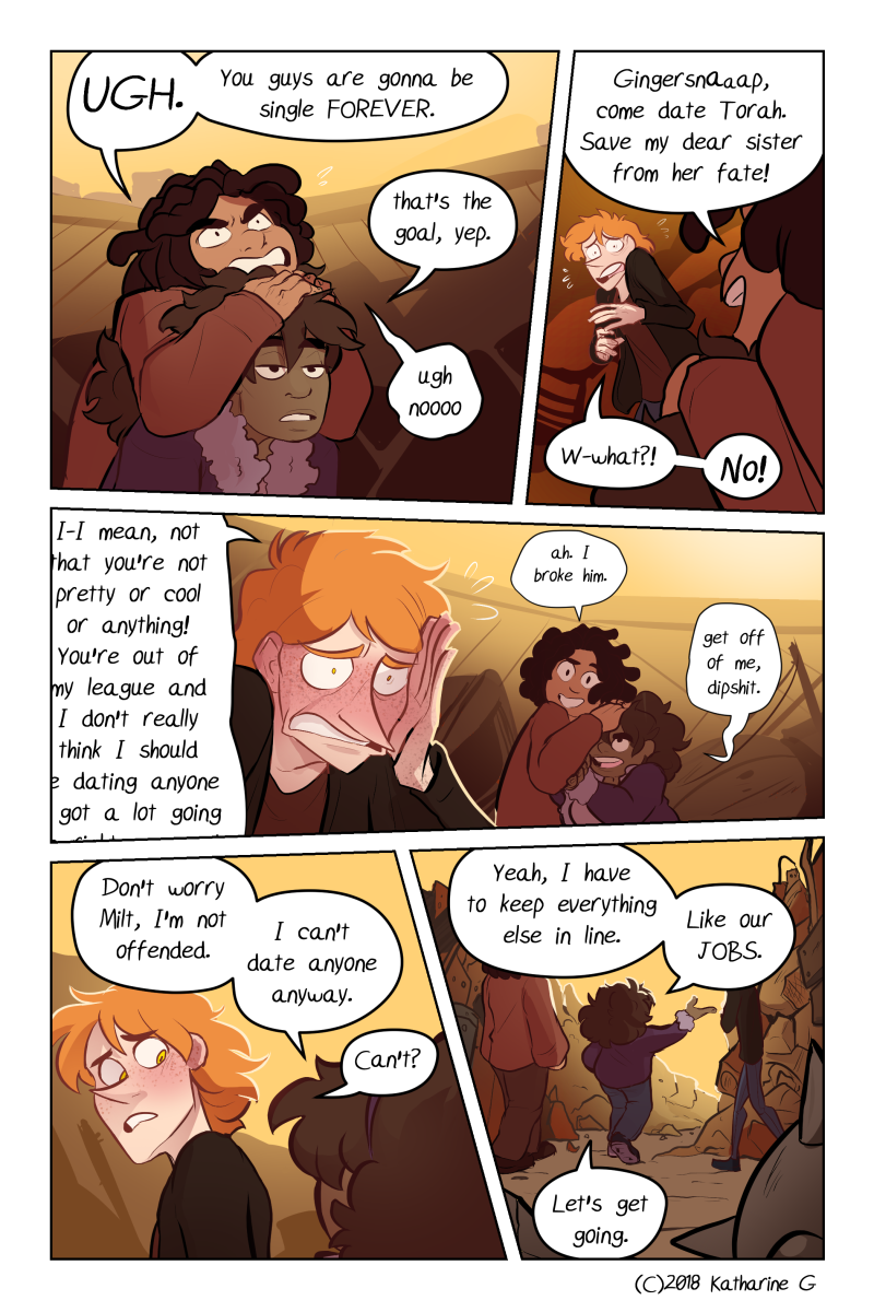 this page was once useless world-building but now it is ship tease. I Know What I Want